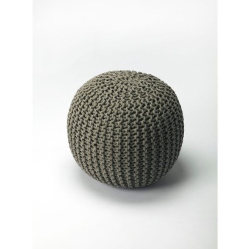 Butler Specialty Furniture | Pincushion Gray Woven Pouffe | Bs3689329