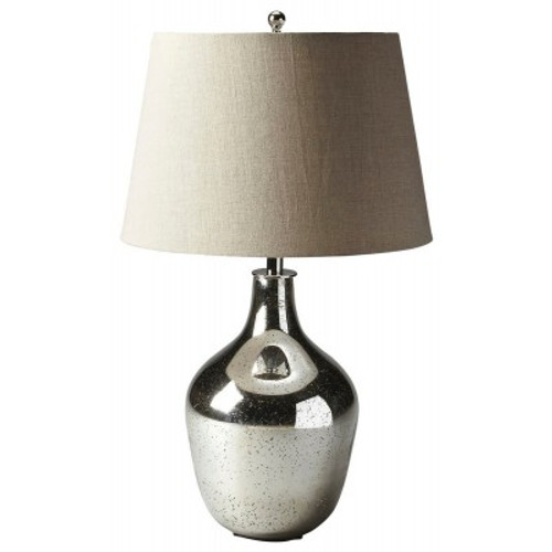 Butler Specialty Furniture |  Mercury Antique Nickel Table Lamp | Bs7110116
