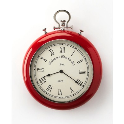 Butler Specialty Furniture | Scarlet Red & Nickel Finish Wall Clock | Bs6212365