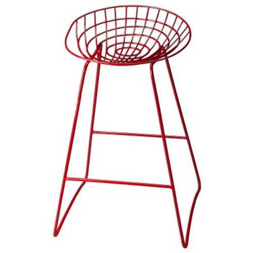 Butler Specialty Furniture   Ludwig Red Metal Bar Stool   Bs5140293