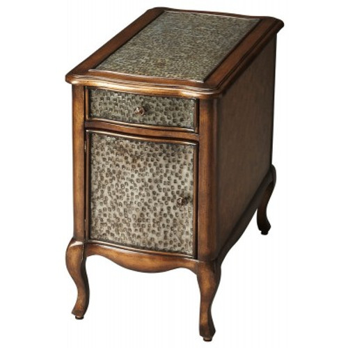 Butler Specialty Furniture | Bosworth Hammered Metal Chairside Table | Bs4223070