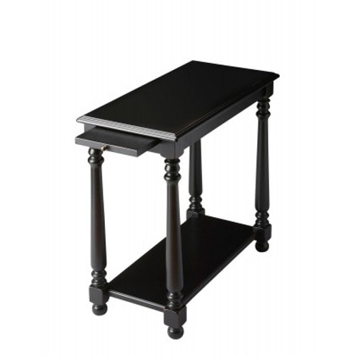 Butler Specialty Furniture   Devane Black Licorice Chairside Table   Bs5017111