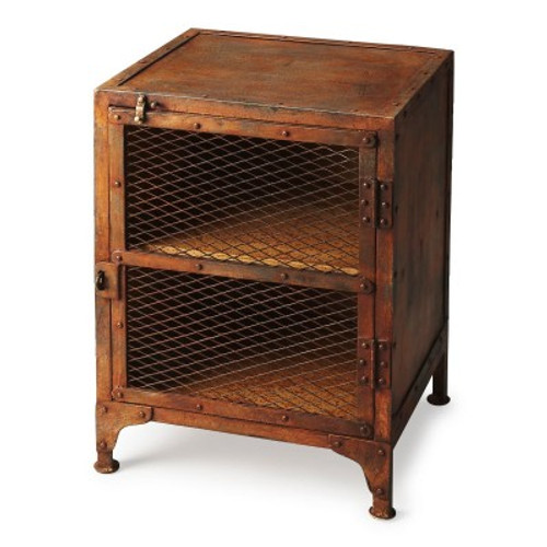Butler Specialty Furniture | Lucas Industrial Chic Chairside Chest | Bs3132025