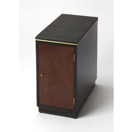 Butler Specialty Furniture | Onyx Leather Chairside Table | Bs6176260