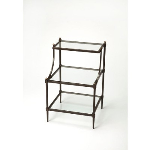 Butler Specialty Furniture | Peninsula Metal & Glass Tiered Side Table | Bs7015030