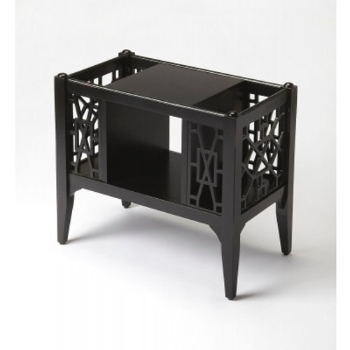 Butler Specialty Furniture | Chippendale Black Licorice Magazine Basket | Bs5002111