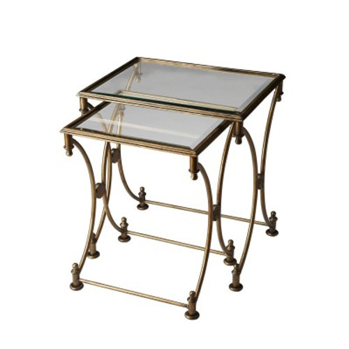 Butler Specialty Furniture | Beverly Antique Gold Nesting Tables | Bs4012226