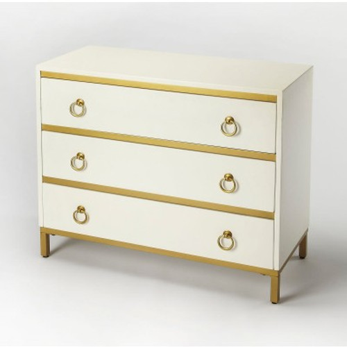 Butler Specialty Furniture | Monika White & Gold Accent Chest | Bs9334222