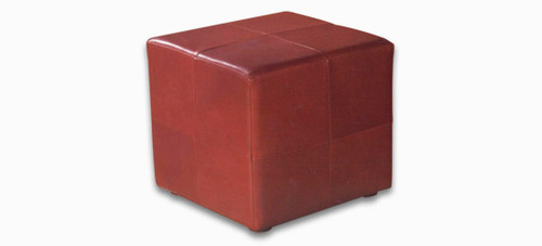 Jaymar Round Ottoman 200, available in leather, fabric, and microfiber.  (Leather pictured)