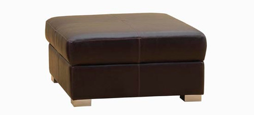 Jaymar Storage Ottoman 00224 available in leather, fabric, or microfiber.