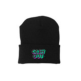 Cash Out Beanie - Black/ Green Glow