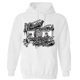 Million Dolla Plays Hoodie_White/ Silver Toe