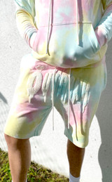 Cheese Cake Tie Dyed French Terry Shorts_ Easter