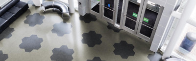Pentagonal Rubber Flooring from Tarkett-Johnsonite