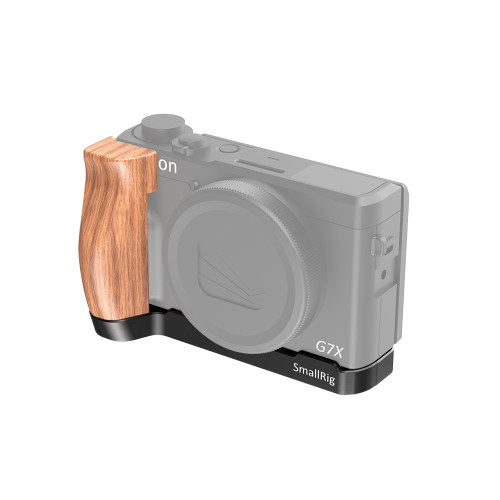 SmallRig Canon G7X Mark III用L型ウッドグリップ2445