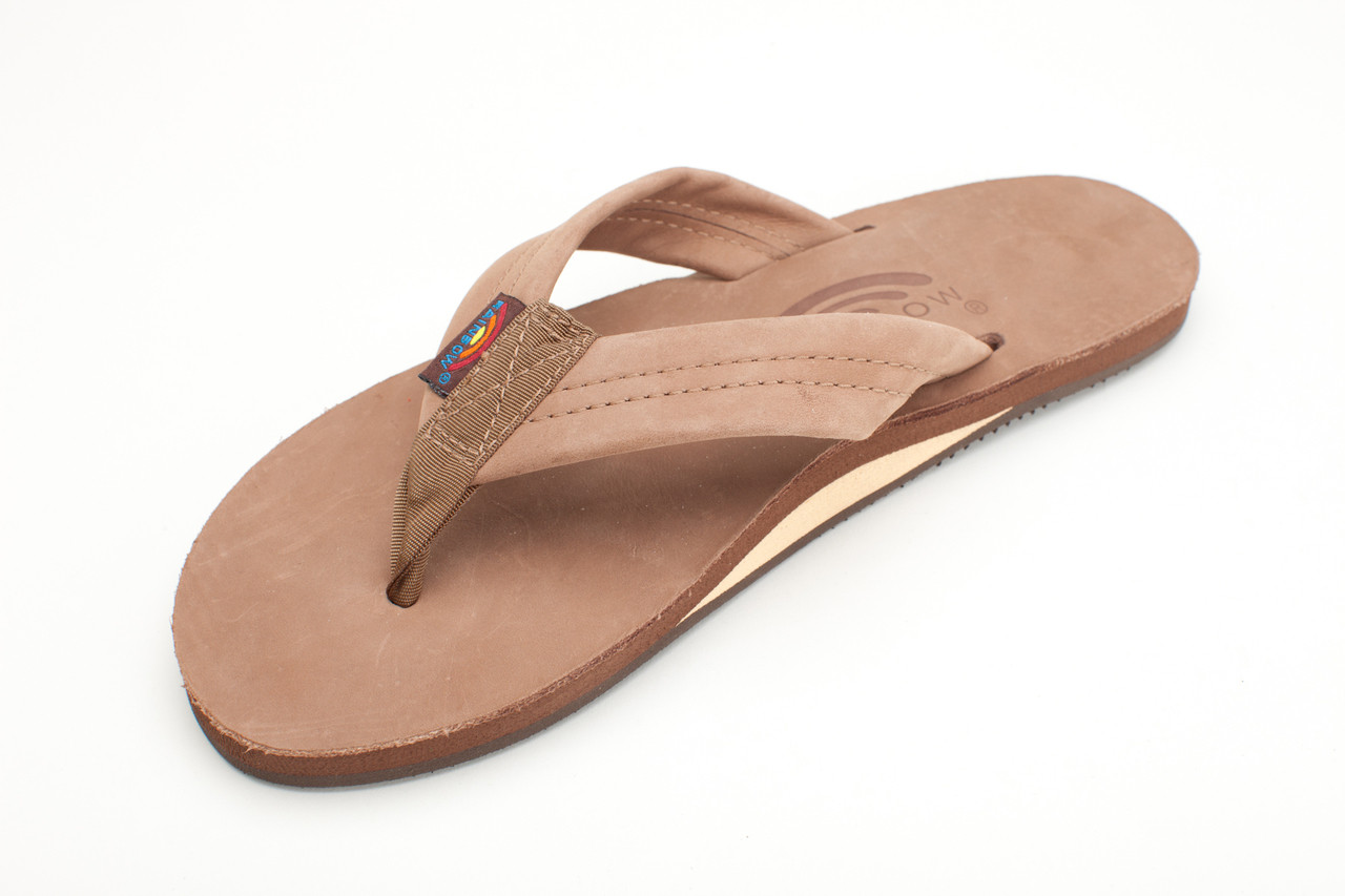 bd5bf7146e17 Rainbow Sandals Ladies Premier Leather Single Layer Dark Brown - Pee ...