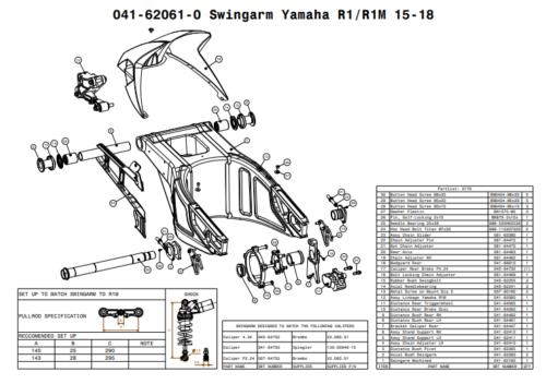 Suter Yamaha R1 / R1M Swingarm Kit