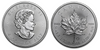 2017 Silver Maple Leaf obverse and reverse