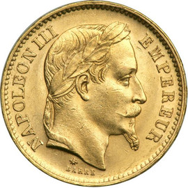 20-Franc Napoleon collectible gold coin