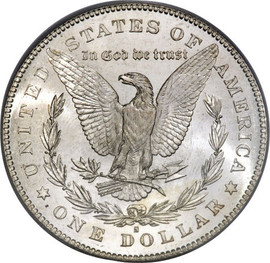 San Francisco Morgan; S Mint Morgan silver dollar