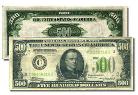 U.S. $500.00 Bill collector note