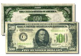 U.S. $500.00 Bill collector note