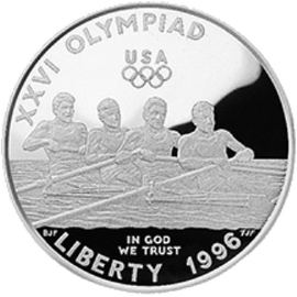 1996 XXVI Olympiad Rowing  Silver Dollar