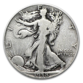 Circulated Walking Liberty Half Dollar
