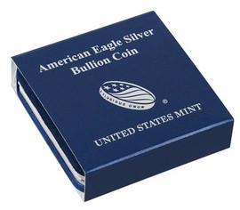 Genuine U.S. Mint blue box for American Eagle Silver dollars