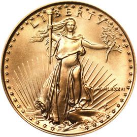1986 ($10) Ten Dollar American Eagle gold obverse