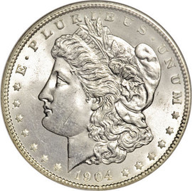 1904 Morgan Silver Dollar in BU condition