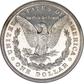 1878 8 Tail Feather Morgan Silver Dollar- Almost Uncirculated