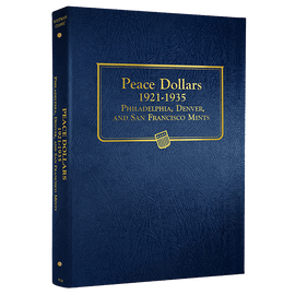 Whitman Album for Peace Silver Dollars 1921-1935