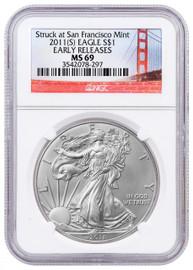 2011 (S) Silver Eagle MS69