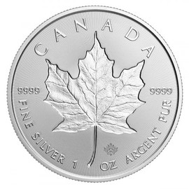 2019 Silver Maple Leaf incuse