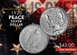1923 Peace Silver Dollar