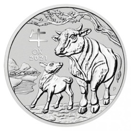 2021 Year of the Ox Silver 1oz