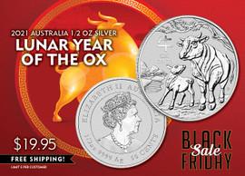 2021 Lunar Year of the Ox Silver Half Dollar