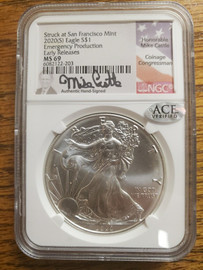 2020 (S) Silver Eagle MS69- Mike Castle
