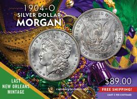 1904-O LAST YEAR New Orleans Morgan Silver Dollar