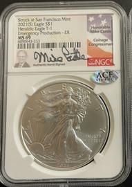 2021 (S) American Silver Eagle- Mike Castle