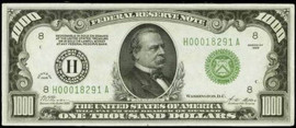 $1000 Note- XF40
