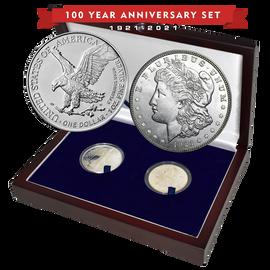 100 Year Silver Dollar Set 1921-2021