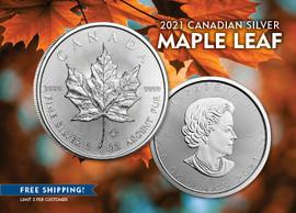 2021 $5 Canadian Silver Maple Leaf