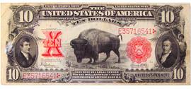$10 Bison Note
