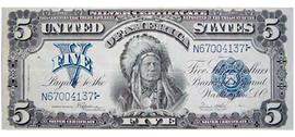 $5 Indian Head Certificate collectors note