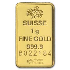 1 gram (999.9 pure) Gold Bar