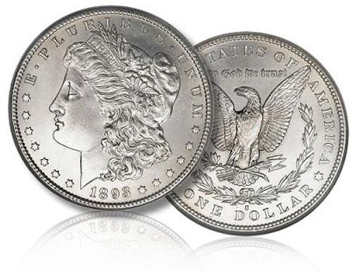 San Francisco Morgan; S Mint Morgan silver dollar