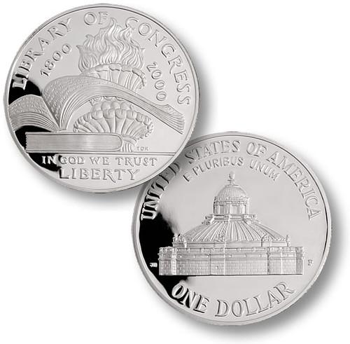 2000 Library of Congress Silver Dollar