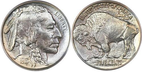 Buffalo Nickel obverse and reverse